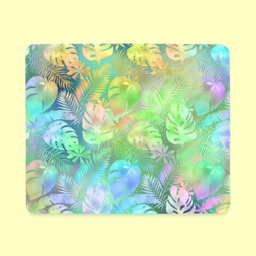 Iridescent Tropical Pattern - Mousepad (Querformat)