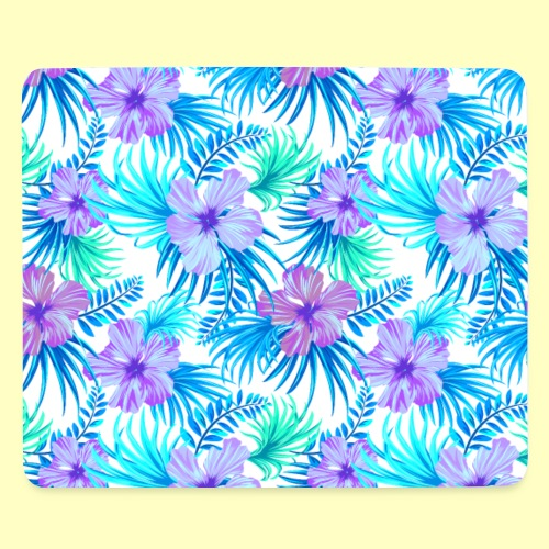 Fancy Tropical Floral Pattern - Mousepad (Querformat)
