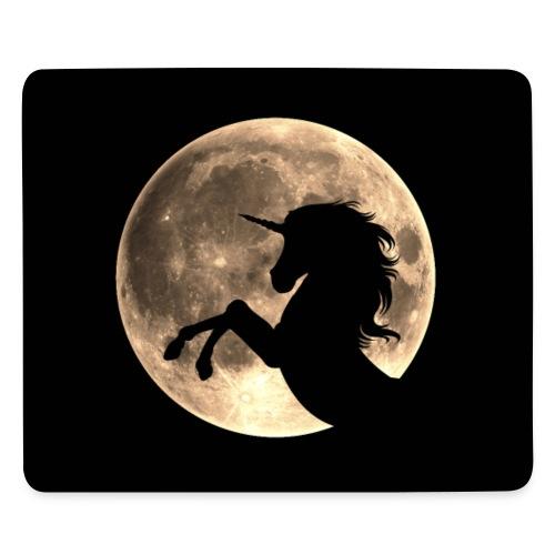 Einhorn, Mond, Vollmond, schwarz, personalisierbar - Mousepad (Querformat)