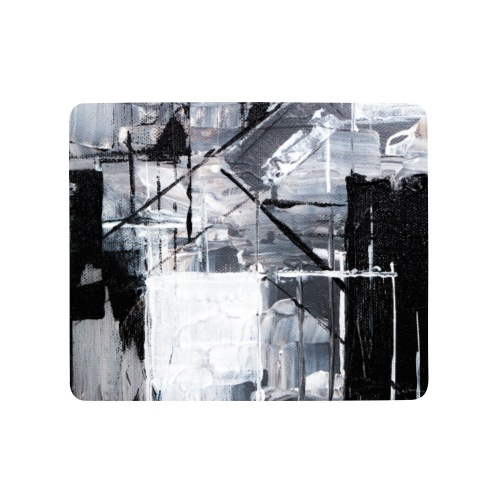 Abstract Art black/white - Mousepad (Querformat)