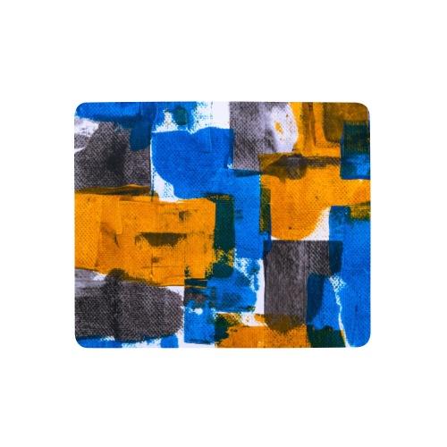 Abstract Art blue/yellow - Mousepad (Querformat)