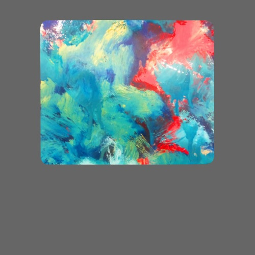 Abstract Art blue/red - Mousepad (Querformat)