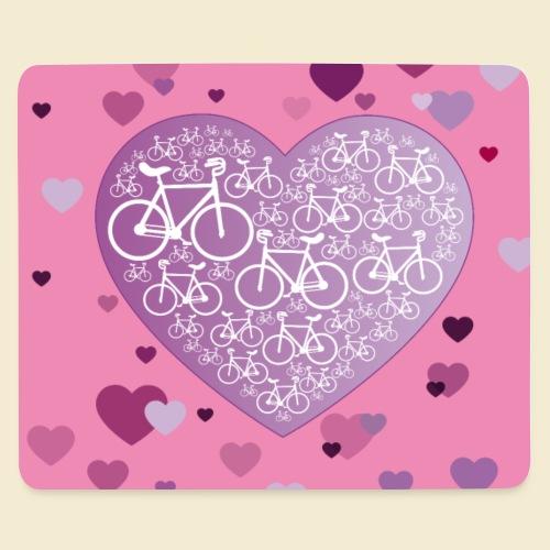 Kunstrad   Mein Herz rosa   Muster