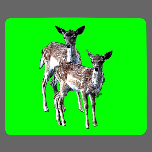 POPIIZERO - THE BAMBIS GREEN - Mousepad (Querformat)