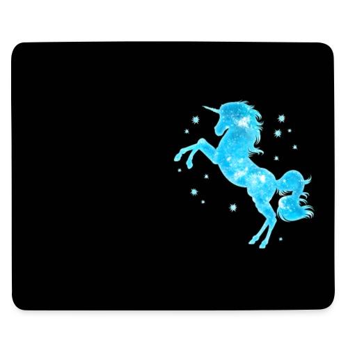 Einhorn, Sterne, Weltraum, Kosmos, Galaxie, Blau - Mousepad (Querformat)