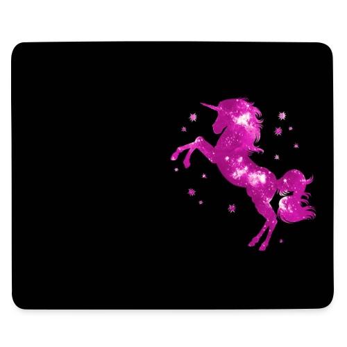 Einhorn, Sterne, Weltraum, Kosmos, Galaxie, Pink - Mousepad (Querformat)