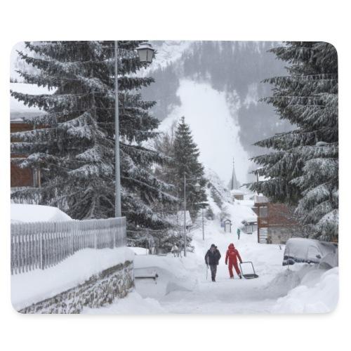 tapis village neige - Tapis de souris (format paysage)