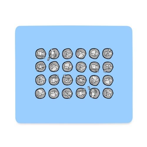 Ritterchen blau Handy - Mousepad (Querformat)