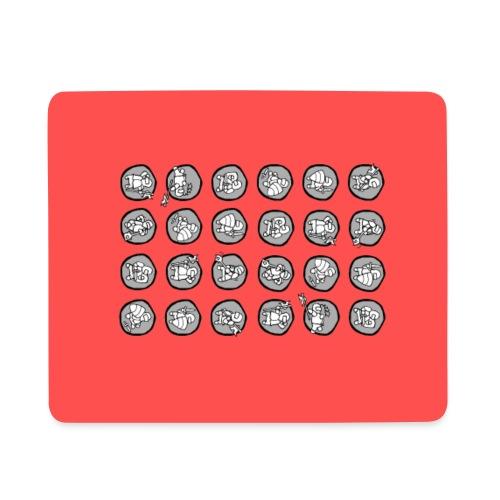 Ritterchen rot Handy - Mousepad (Querformat)