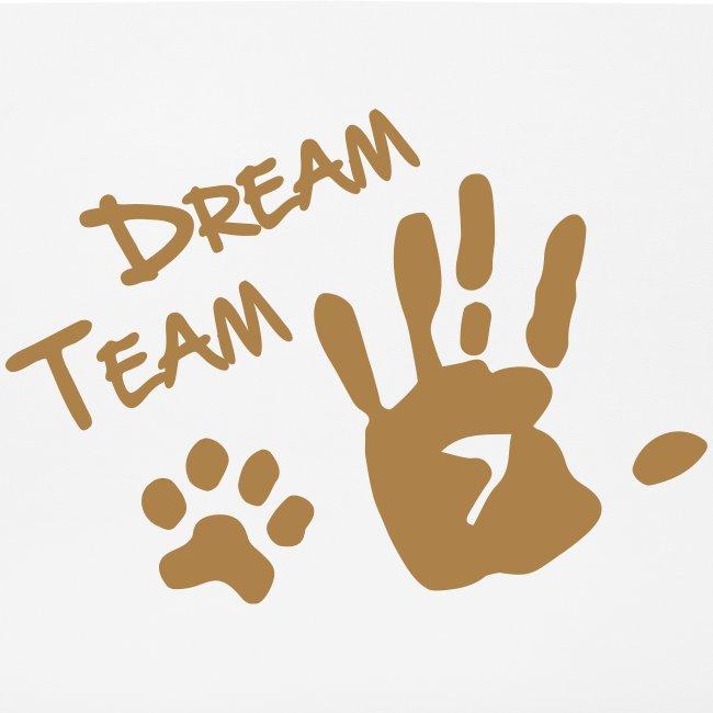 Vorschau: Dream Team Hand Hundpfote - Mousepad (Querformat)