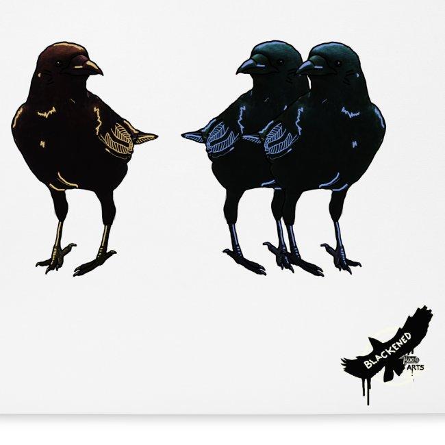 Crows by BlackenedMoonArts, with logo