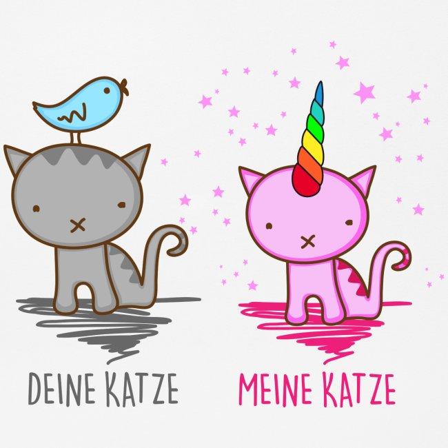 Vorschau: Deine Katze vs. Meine Katze - Mousepad (Querformat)