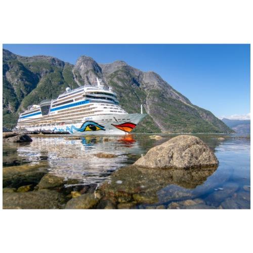 Sol-Schiff Eidfjord by Grubegrafie - Mousepad (Querformat)