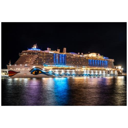 Nova-Schiff auf Madeira (Nacht) by Grubergrafie - Mousepad (Querformat)