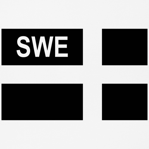 Swedish Tactical flag (Right)Sweden - Sverige- SWE - Musmatta (liggande format)