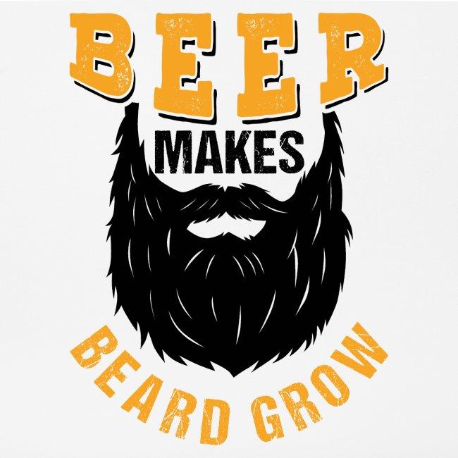 Beer Makes Beard Grow Funny Gift