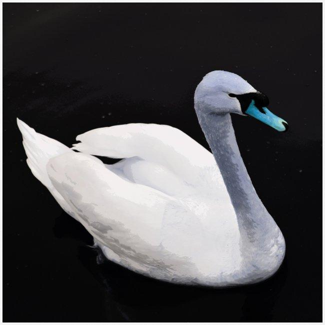 'Blue Swan' by BlackenedMoonArts