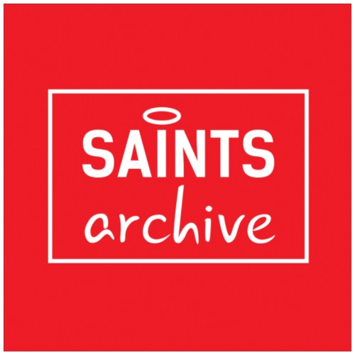 Saints Archive Logo - Red - Mouse Pad (horizontal)