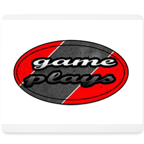 muismat game plays logo - Mouse Pad (horizontal)