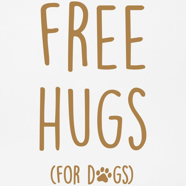 Vorschau: free hugs for dogs - Mousepad (Querformat)