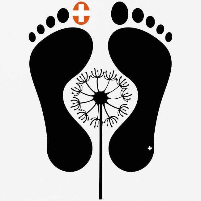 Barfuss-Logo mit Pusteblume
