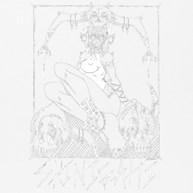 Femme elfe crâne mort dark rock Blanc