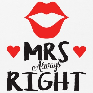 Mrs. Always right Valentinstag - Mousepad (Querformat)