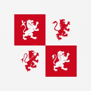 Red lions ritter coat of arms England uniforms heraldry l - Mouse Pad (horizontal)