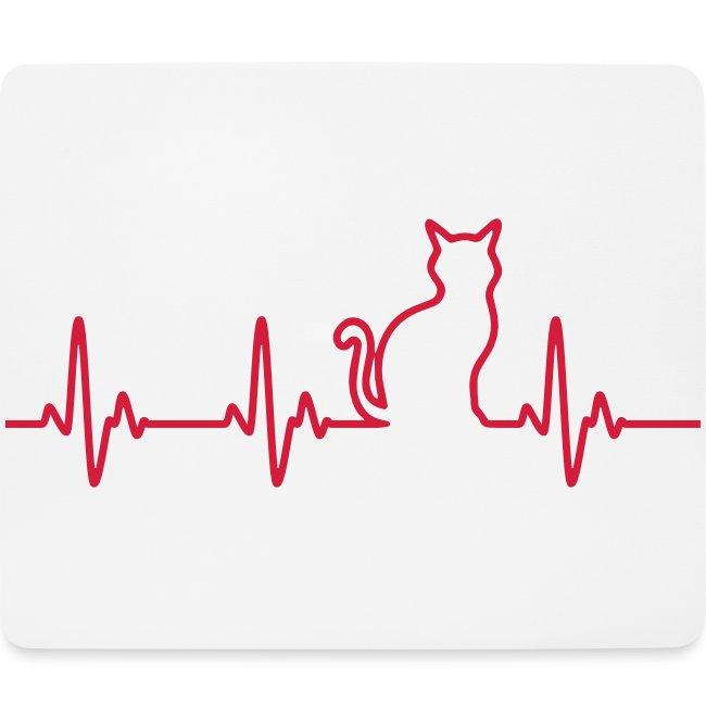 Vorschau: Ein Herz für Katzen - Mousepad (Querformat)