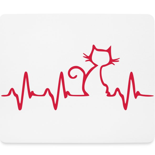 Vorschau: Cat Heartbeat - Mousepad (Querformat)