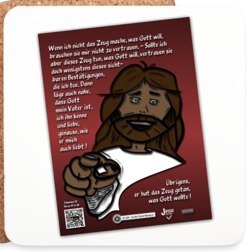Jesus vertrauen - warum ? - Untersetzer (4er-Set)