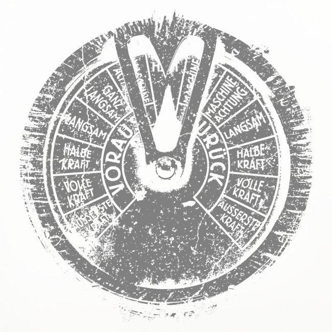Maschinentelegraph (harmaa oldstyle)