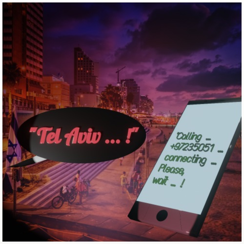 Tel Aviv is calling - Sehnsuchtsorte - Untersetzer (4er-Set)