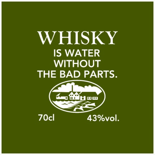 Whiskey Is Water Without The Bad Parts - Coasters (set of 4)