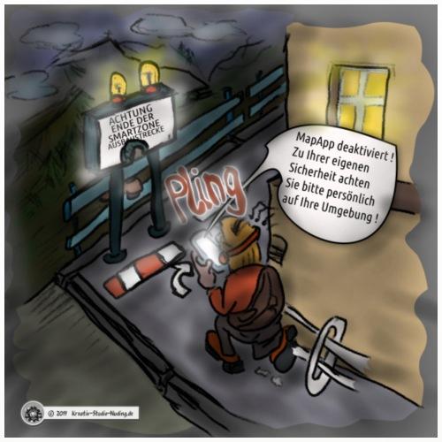 Cartoon SmartZone Ende der Ausbaustrecke - Untersetzer (4er-Set)