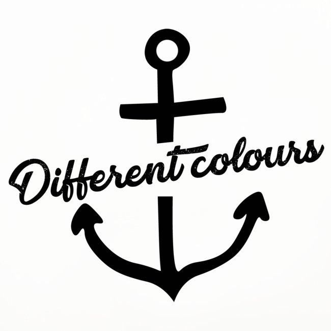 Different Colours Black Logo