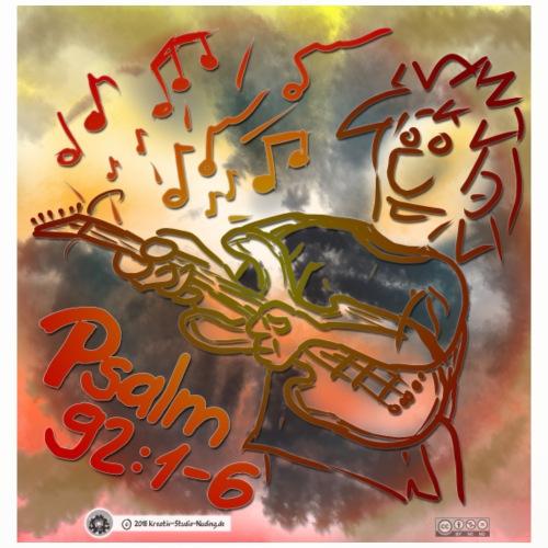 Design E Gitarre Links Psalm 92 1-6 - Untersetzer (4er-Set)