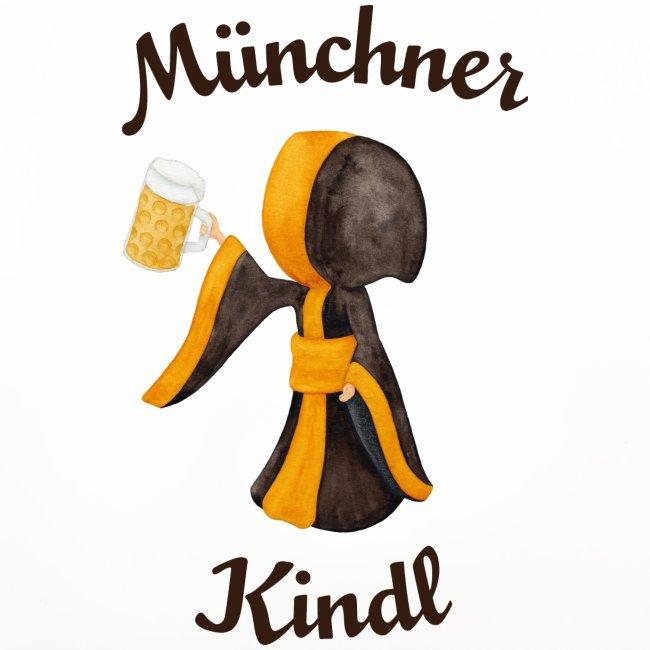 Münchner Kindl mit Masskrug und Bier