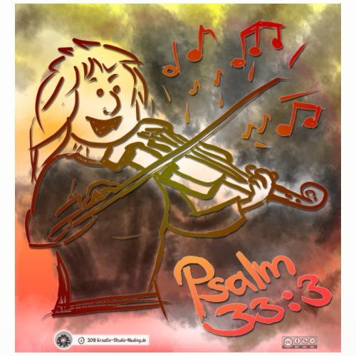 Design Geige Psalm 33:3 - Untersetzer (4er-Set)