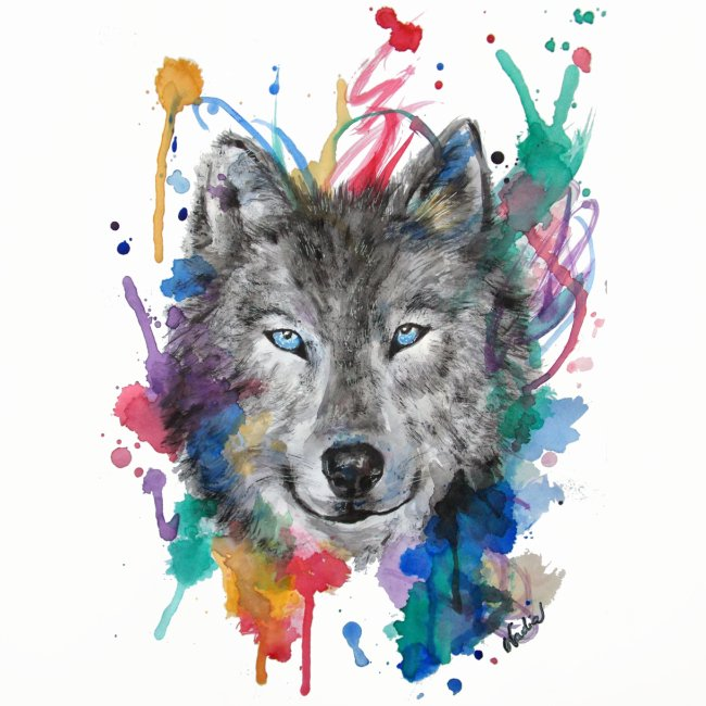 Wolf Watercolor by Nadia Luongo