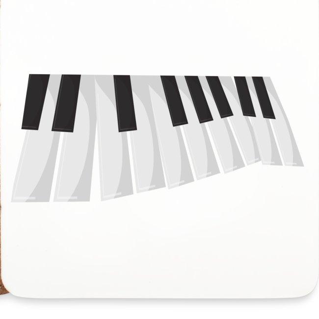 Une certaine perspective du piano en noir et blanc