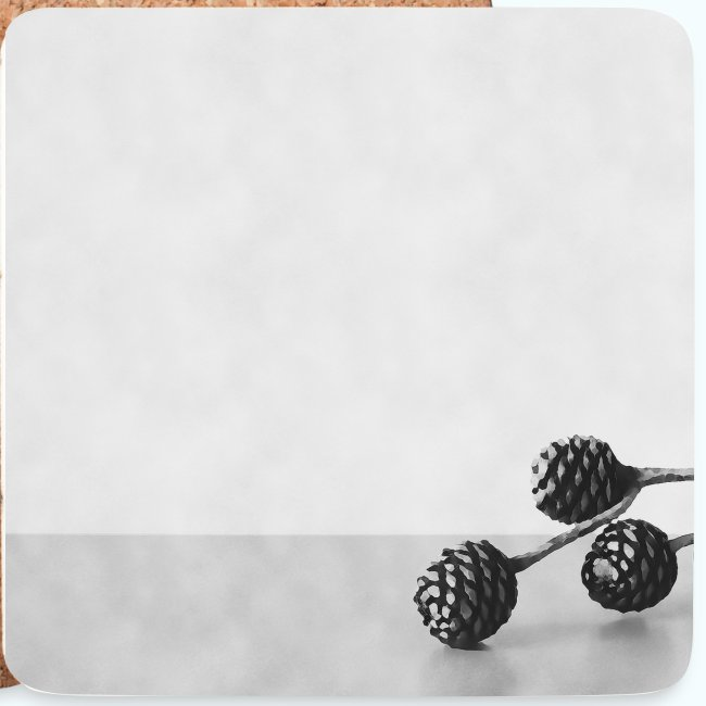 Gray minimalism composition watercolor