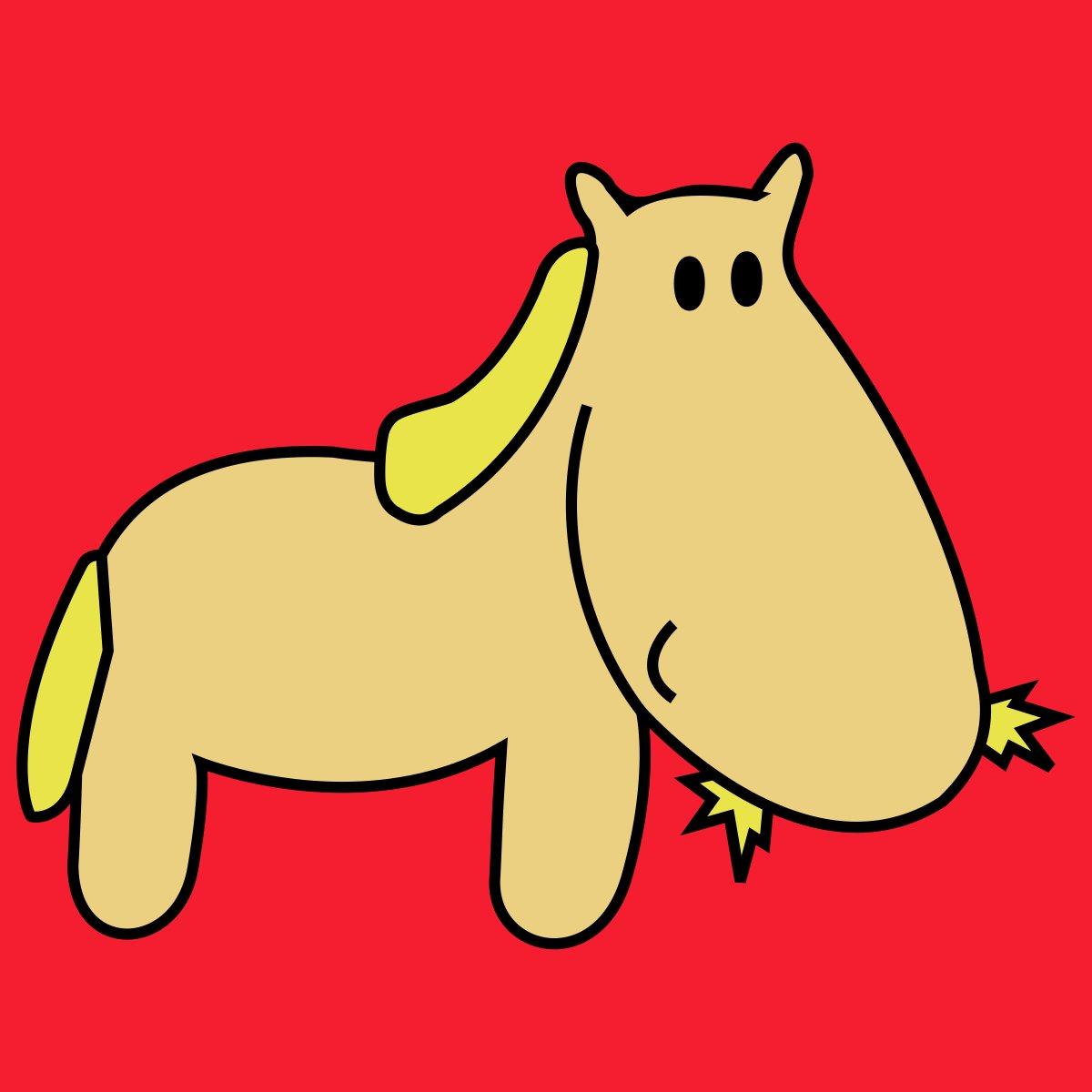 Pferd mit Stroh
