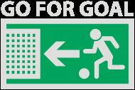 Fan-Shirt: Go for Goal   Tor   Fussball