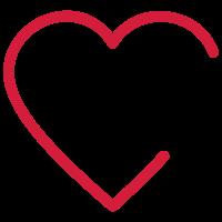 Offenes Herz / open heart outline (1c)