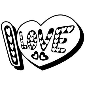 I Love heart tattoo