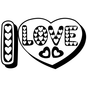 i love heart tattoo shadow