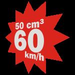 50 ccm, 60 km/h