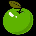 appel groen met blaadje