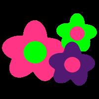 blumen/flowers 3farbig